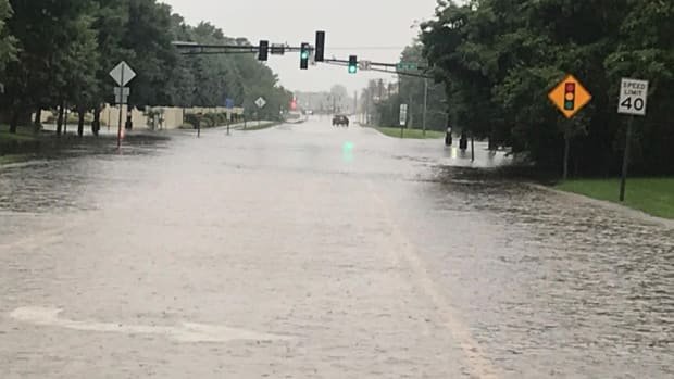 Sartell flooding road