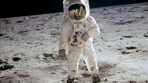 The Apollo 11 moon landing.