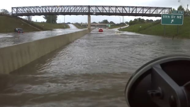 flooding on Interstate 90