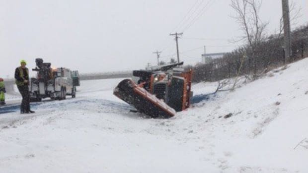 Snowplow crash