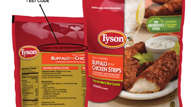 Tyson chicken strip recall.