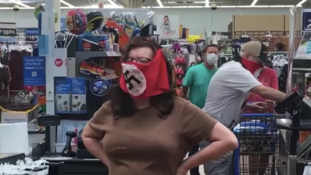 Walmart nazi mask incident in Marshall, MN.