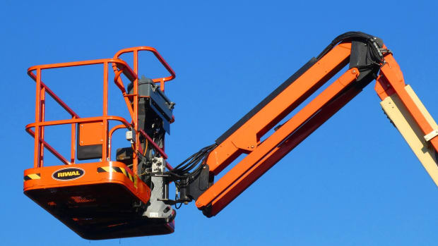 Cherry picker boom truck