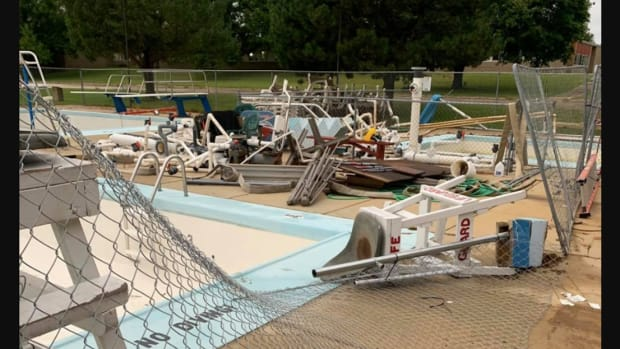 Pool vandalism in West Concord, Dodge County.