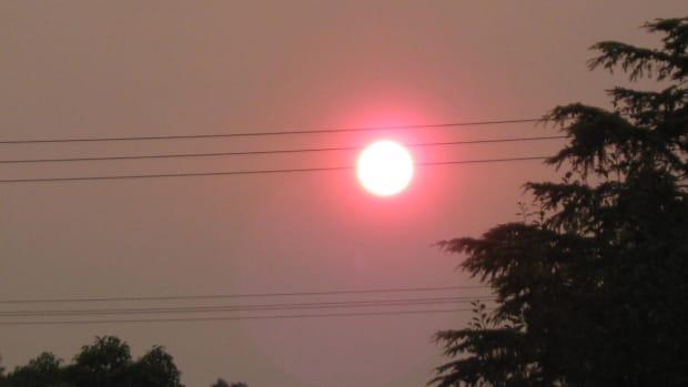 Hazy sun smoke