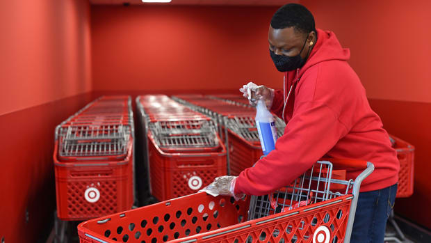 target cleaning carts