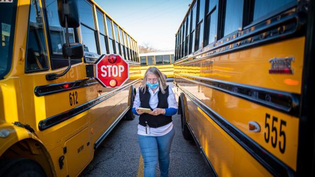 school, school bus, covid