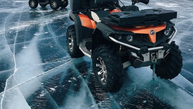 ATV winter snow ice