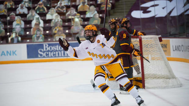 Brannon McManus, Gopher hockey