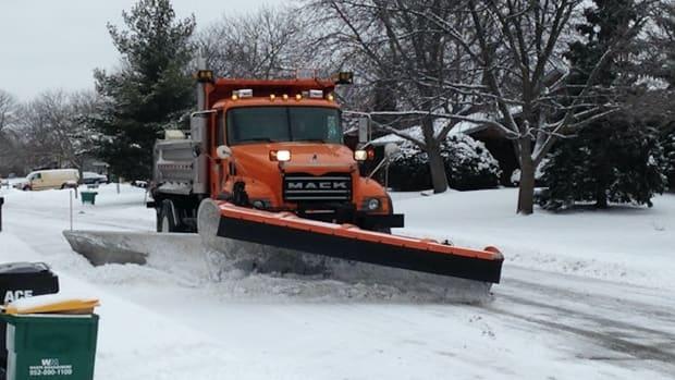 snow, plow