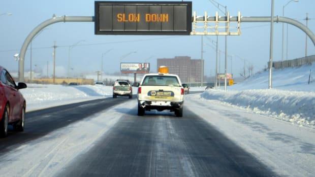 icy roads, black ice