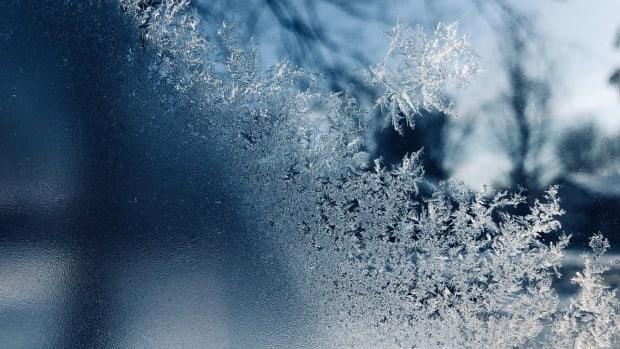 frozen window cold winter