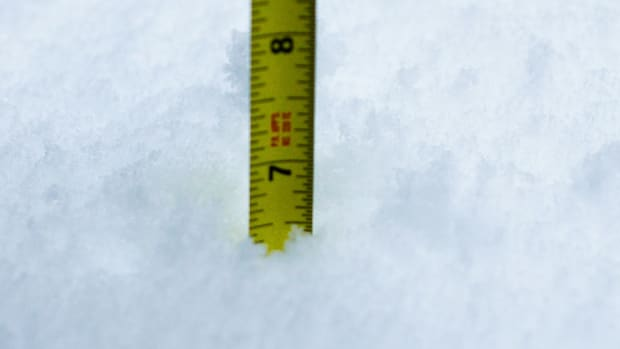 snow, measuring snow, ruler snow