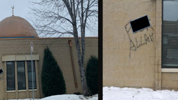 Masjid Al-Nur mosque vandalism.