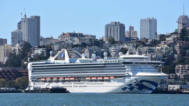 The Grand Princess cruise ship in San Francisco.