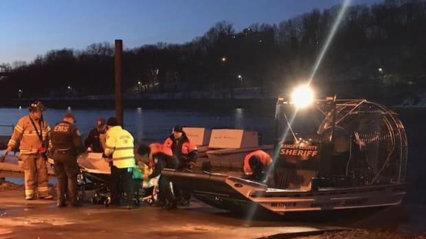 Mississippi River rescue.