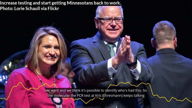 Walz: Ramp up testing, start getting Minnesotans back to work