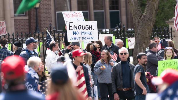 protestors, coronavirus