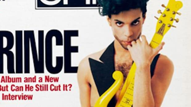 "Prince on cover of ""Spin"" magazine."