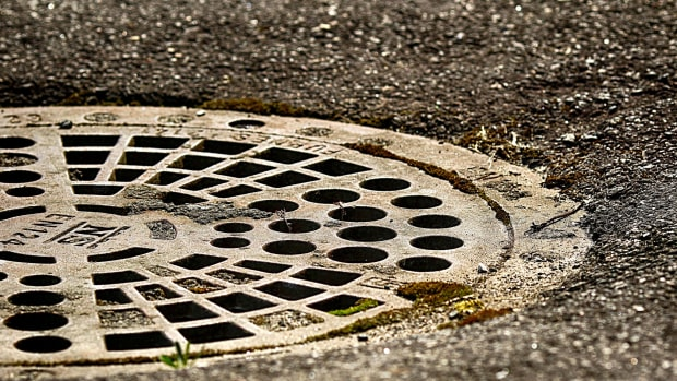 manhole, sewer