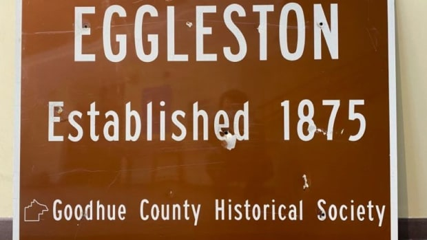 ghost town sign - goodhue county