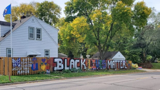 BLM mural in West St. Paul.