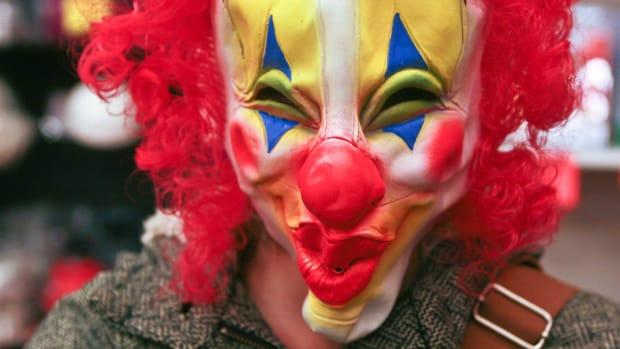 Clown mask.