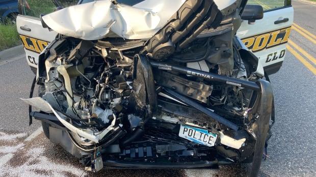 Waite Park Police Department - St Cloud squad car collision - 2021.06.07
