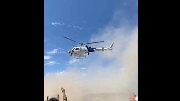 line 3 protests helicopter