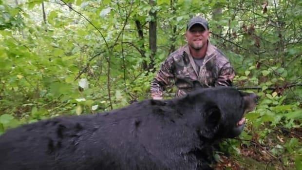 Faceook - Brett Stimac with bear