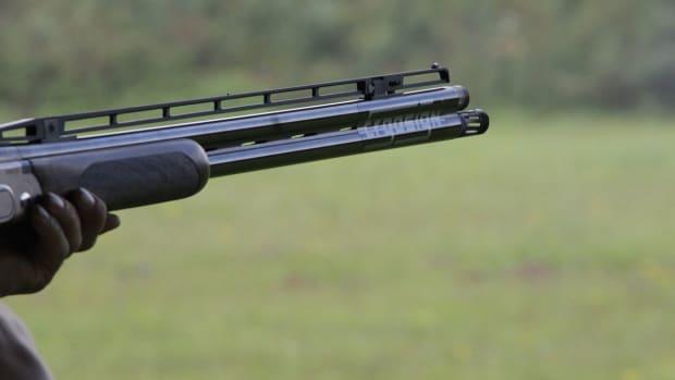 Shotgun clay pigeon shoot