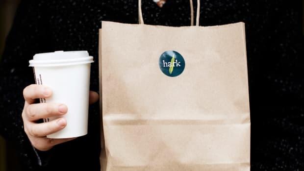 Facebook - Hark Cafe - to-go bag cup