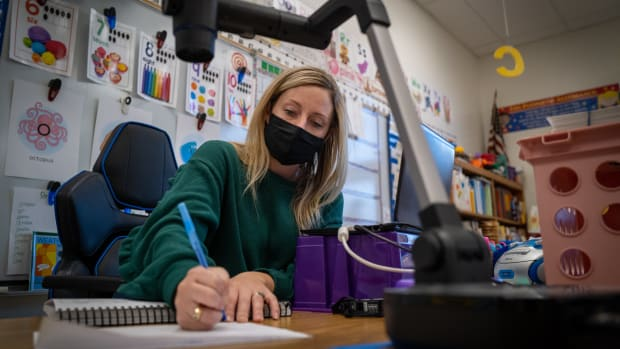teacher, covid, masks, school