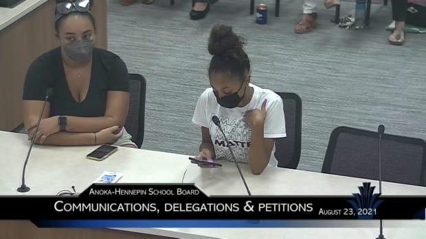 Student booed at Anoka-Hennepin school board meeting