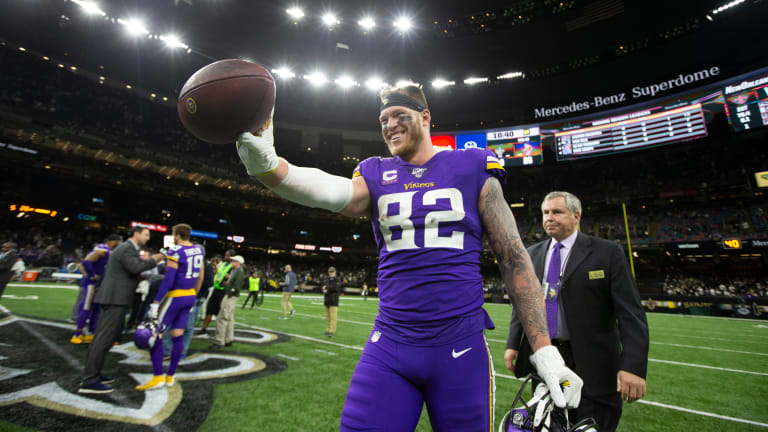 Kyle Rudolph slams media that took his Mike Zimmer comment out of context