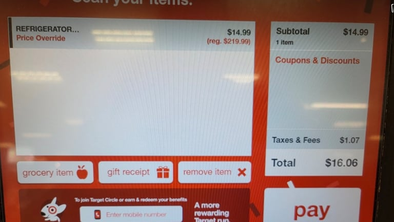 Eagle-eyed shoppers take advantage of Target's $14.99 price glitch