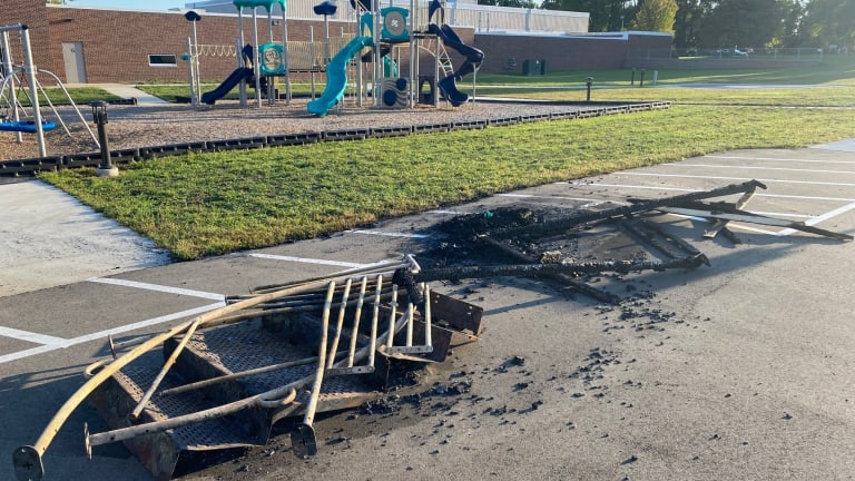'Cruel and stupid' act destroys playground for special education students
