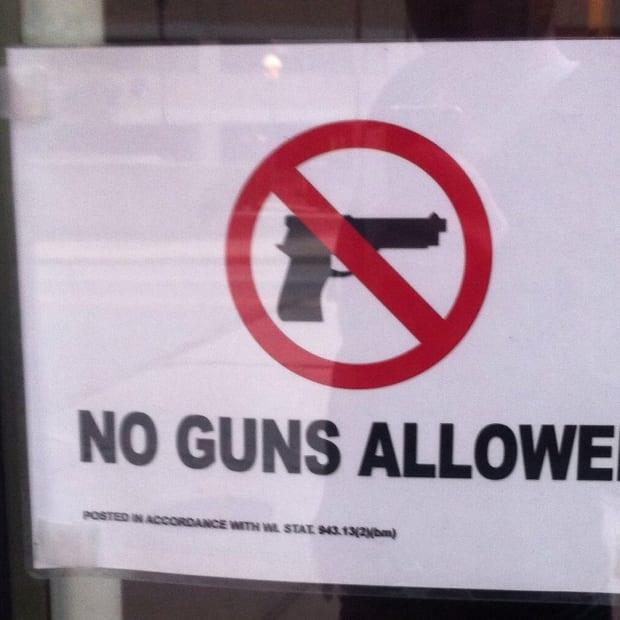 No guns sign