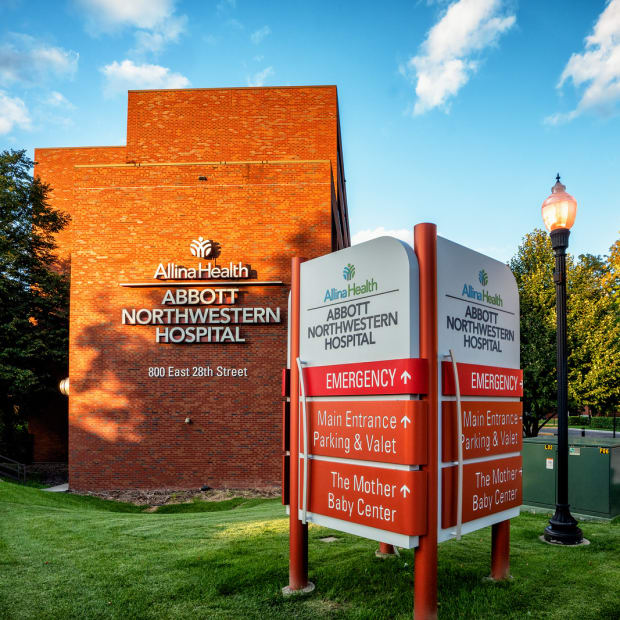 Abbott Northwestern Hospital in Minneapolis.
