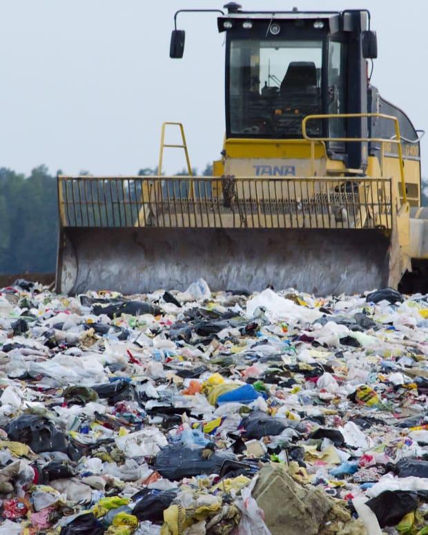 Landfill plastic bags
