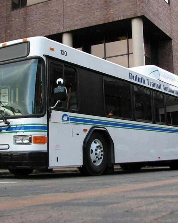 Duluth public transit bus.