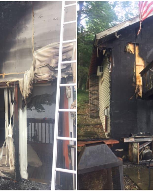 Cabin fire