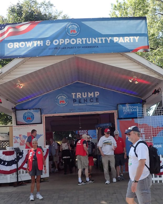 Republican booth at the State Fair.