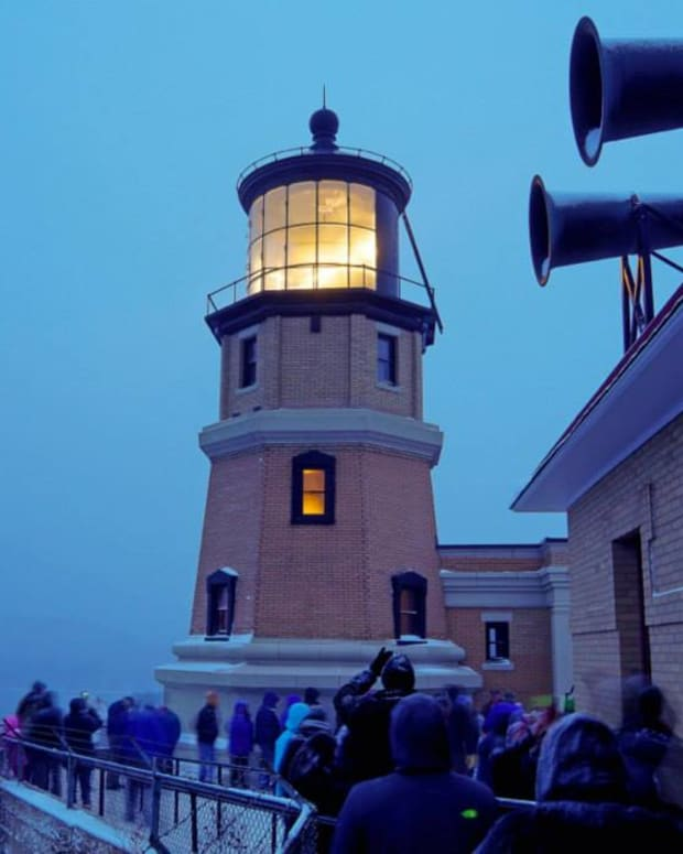 The SS Edmund Fitzgerald memorial ceremony at Split Rock Lighthouse in 2014.