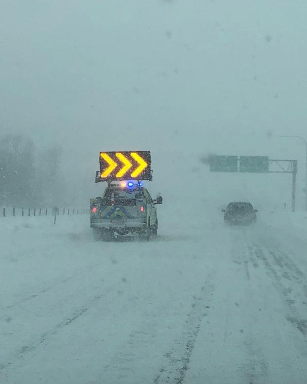 snow, driving snow