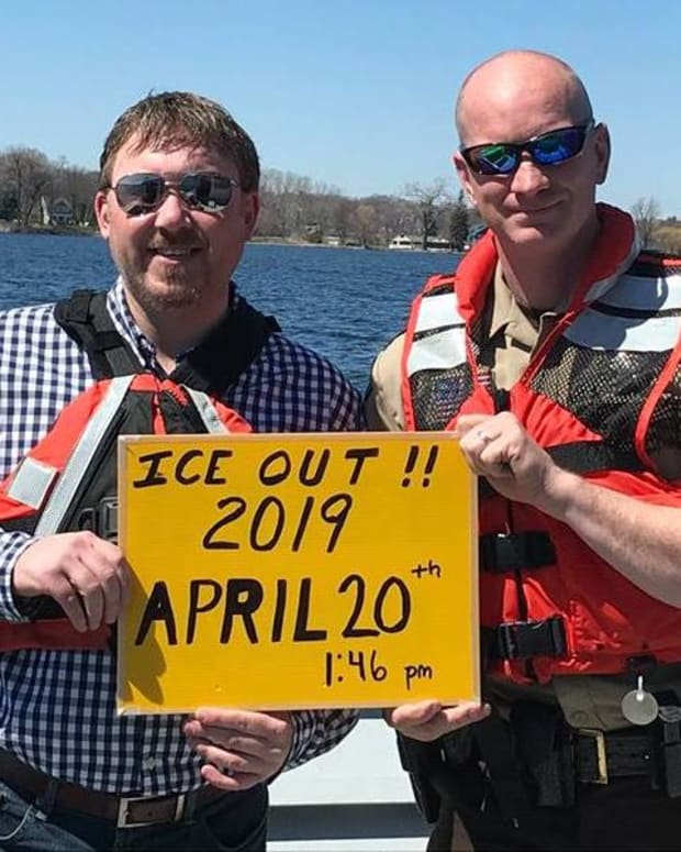 Ice-Out declared on Lake Minnetonka.