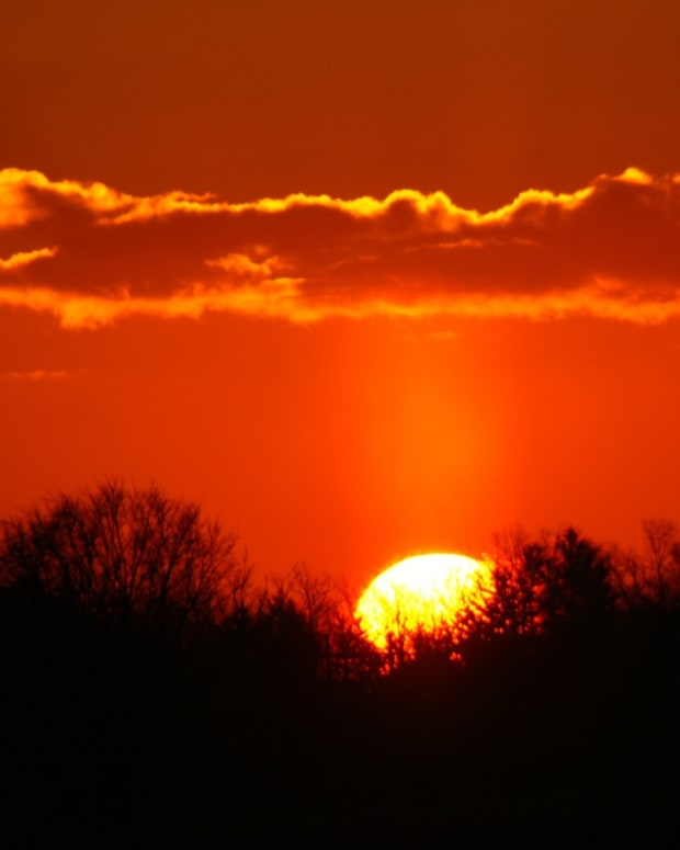 red sky, sunrise