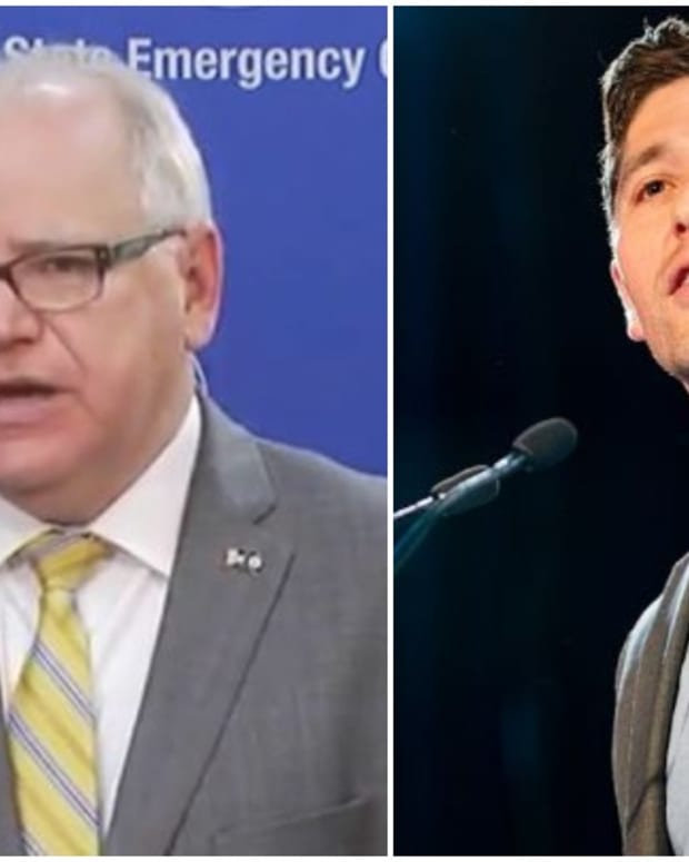 Gov. Tim Walz and Mayor Jacob Frey
