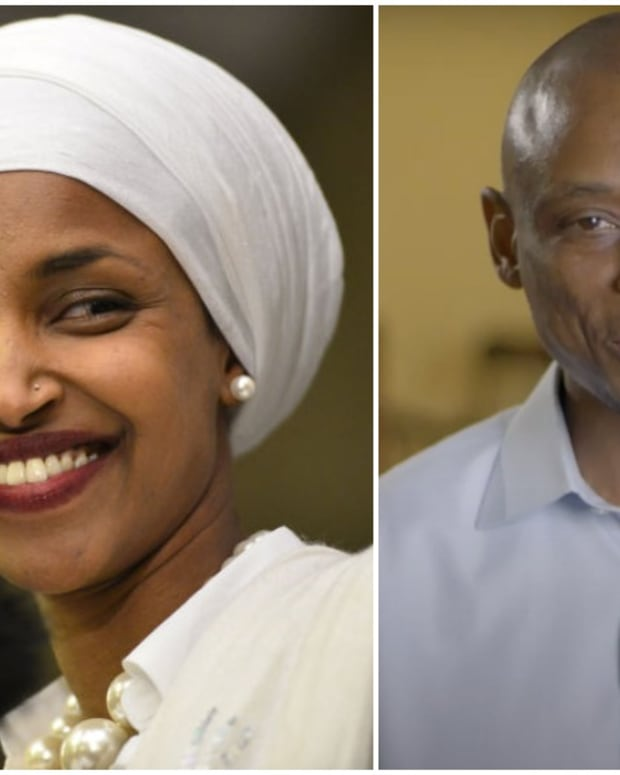 Rep. Ilhan Omar and Antone Melton-Meaux