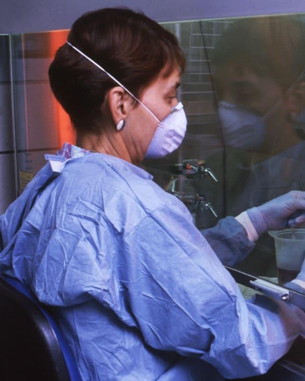 CDC biohazard scientist health work